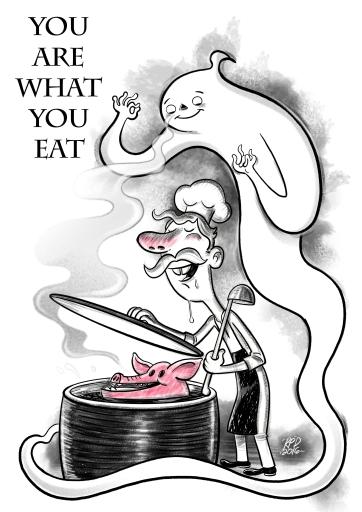 you-are-what-you-eat_ecartoonman_richard-peter-david